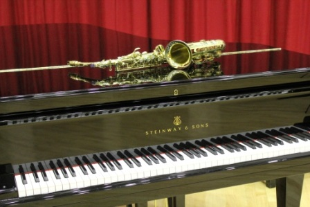 Selmer Saxophone on a Steinway Grand Piano - piano teacher and saxophone teacher